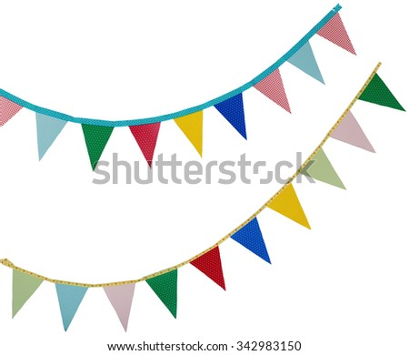 high resolution birthday holidays flags isolated on a white - stock photo