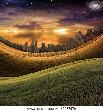 High Resolution City Landscape - stock photo