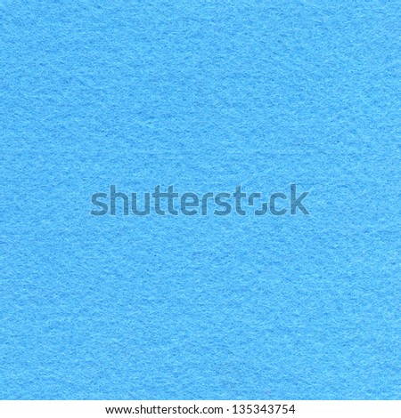 High resolution close up of baby blue felt fabric. - stock photo