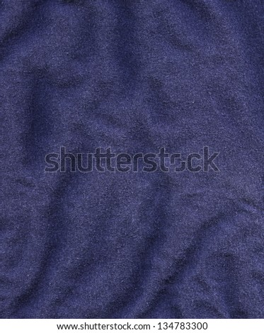 High resolution close up of dark blue cotton fabric. - stock photo