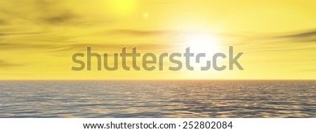 High resolution concept conceptual sea or ocean water waves, sky cloudscape exotic or paradise background, metaphor to nature, peace, summer, travel, tropical, tourism, environment, vacation holiday - stock photo