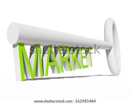 High resolution concept or conceptual green and white 3D key isolated on white background, metaphor for business,brand,trend,media,focus,market,value,product,advertising or customer.Also for corporate - stock photo