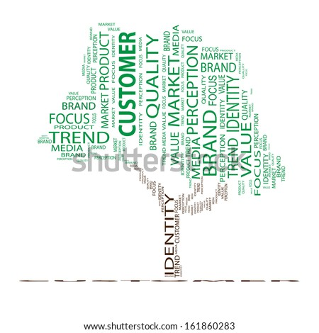 High resolution concept or conceptual green tree word cloud on white background as metaphor for business,trend,media,focus,market,value,product,advertising or customer.Also for corporate wordcloud