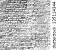 High resolution concept or conceptual old vintage white brick wall background pattern.A textured surface of aged brickwork for retro, ancient,surface,masonry house facade for architecture construction - stock photo