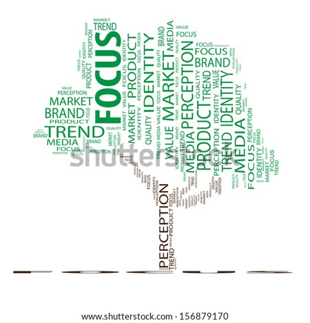 High resolution concept or conceptual tree word cloud on white background as metaphor for business,brand,trend,media,focus,market,value,product,advertising or customer. Also for corporate wordcloud