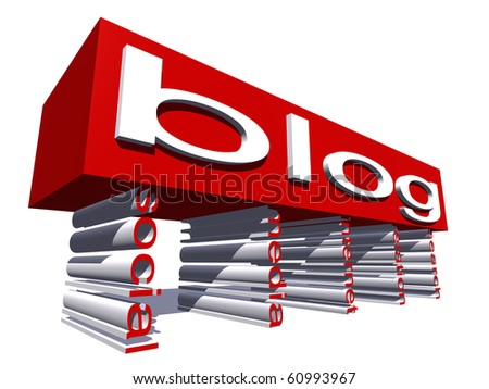 High resolution conceptual 3D text isolated on white background - stock photo