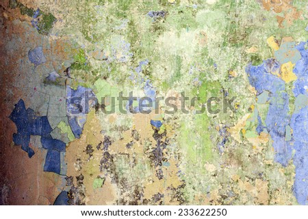 High Resolution Concrete Grunge Weathered Patina Wall - stock photo