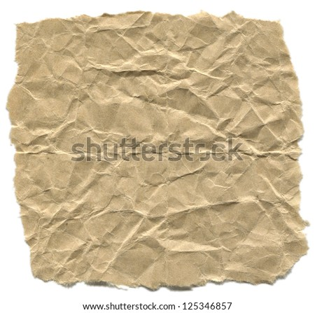 high resolution Crushed craft paper/Crushed paper
