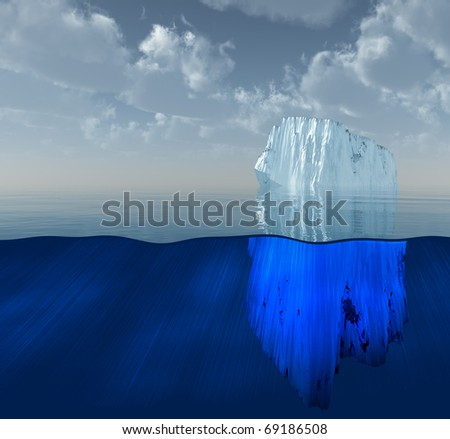 High Resolution 3D Illustration Iceberg