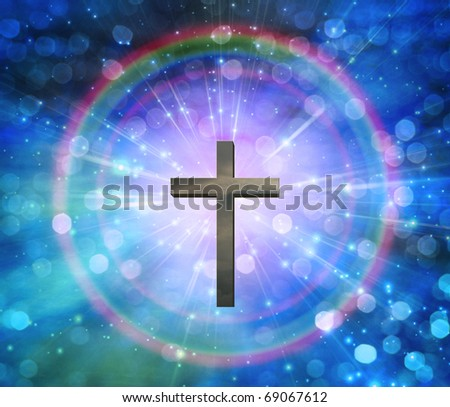 High Resolution 3D Illustration Light of Christ - stock photo