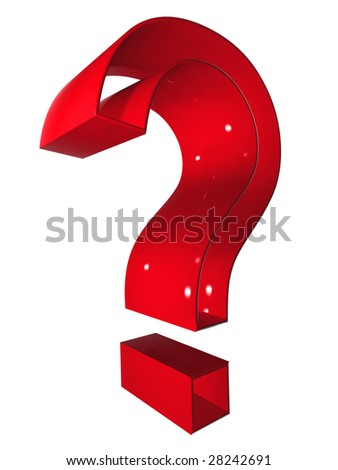 high resolution 3D red question or help  symbol rendered at maximum quality ideal for web,business, or conceptual designs,isolated on white background