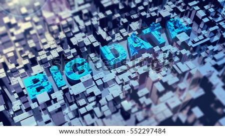 high resolution 3D render for a big data conceptual theme