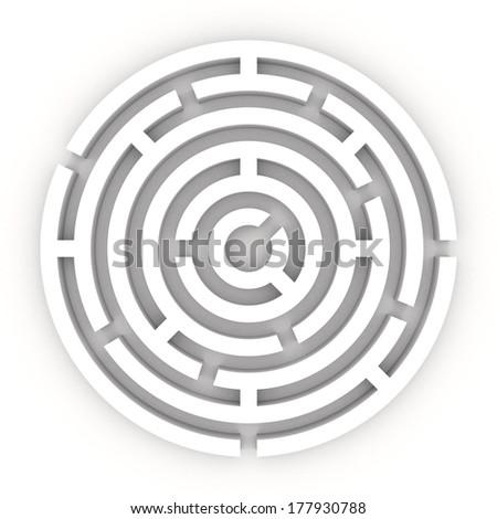 High resolution 3D render of a maze - labyrinth. - stock photo