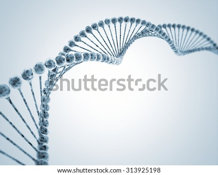 High resolution 3d render of human dna string - stock photo
