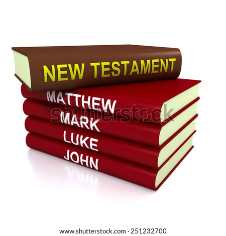 High resolution 3D render of pile of the books of the New Testament