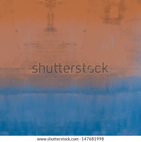 High resolution designed art  paper background or texture. Blue and brown color. - stock photo