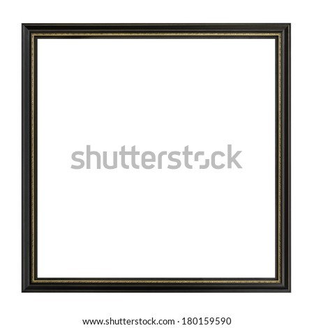 High Resolution Empty square Frame Isolated on White Background - stock photo