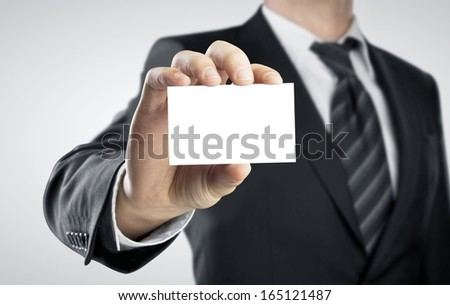 high resolution hand holding card