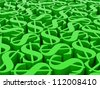 High resolution image. 3d rendered illustration. Huge amount dollar symbols. - stock photo