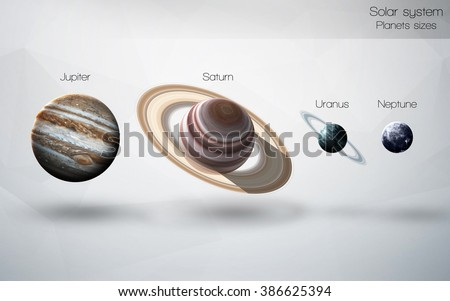 High resolution image presents planets of the solar system. This image elements furnished by NASA - stock photo