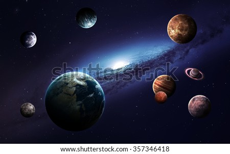 High resolution images presents planets of the solar system. This image elements furnished by NASA. - stock photo