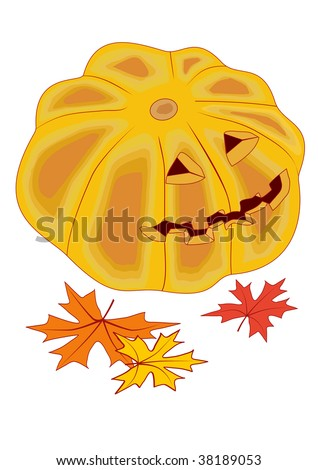 High Resolution Jackolantern Symbol Halloween Eve Stock Illustration