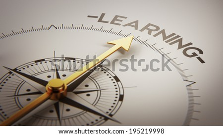 High Resolution Learning Concept - stock photo