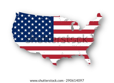 Usa Flag Map Stock Images RoyaltyFree Images Vectors - Us flag map