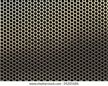 High resolution metal mesh grille texture.