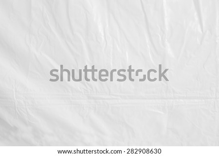 High resolution of crumpled white plastic sheet , crumpled white vinyl canvas - stock photo