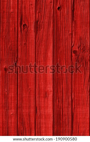High resolution old red wooden background - stock photo