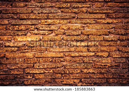 High resolution old scrubbed brick wall