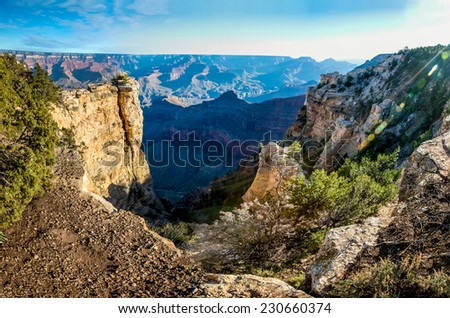High Resolution Panoramic View of the Magnificent Grand Canyon - stock photo