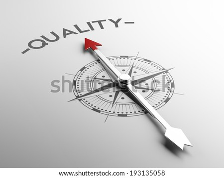 High Resolution Quality Concept - stock photo