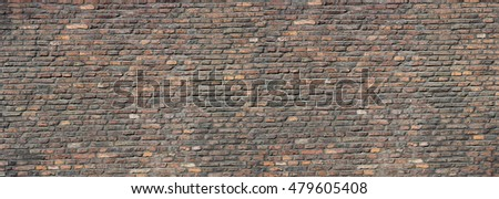 High resolution red brick wall