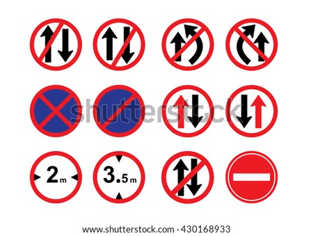high resolution road sign clipart art stock illustration 430168933