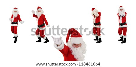High resolution Santa Claus posing against white with Clipping Path for easier isolation