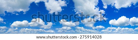 high resolution sky background with white Cirrocumulus clouds - stock photo