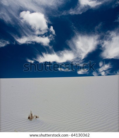 High Resolution White Sands New Mexico USA - stock photo