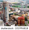 High Rise Building Site Construction at  Downtown Vancouver in British Columbia, Canada - stock photo