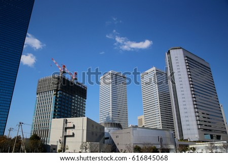 High-rise buildings and blue sky - 