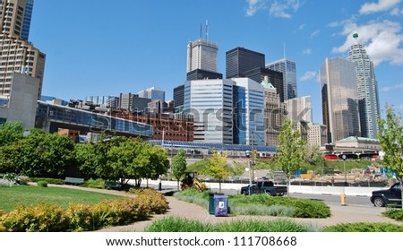 High Rise Buildings in Downtown Toronto, Canada