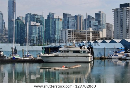 High Rise Buildings in Downtown Vancouver Waterfront , Canada - stock photo