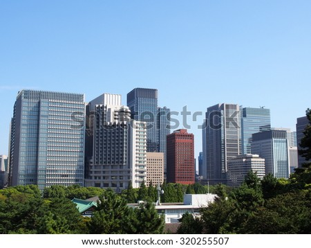 High rise buildings in Tokyo, Japan