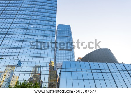 High-rise buildings of glass window
