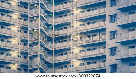 High rise modern building as pattern and background - stock photo