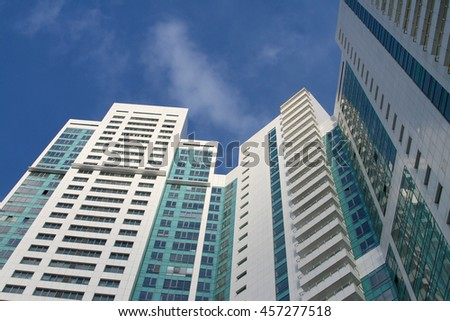 High-rise residential buildings, 26 of january, 2015 year, Moscow, Russia - stock photo