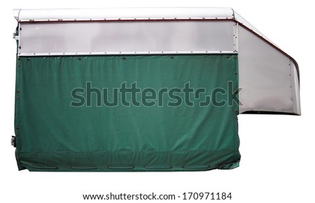 High roof container isolated on white - stock photo