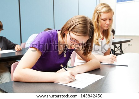 High School Academic Testing - stock photo