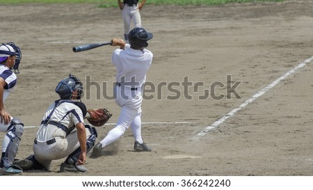 High School Baseball - stock photo